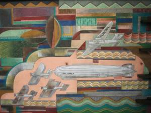 "Bullocks Wilshire ""Spirit of Transportation"" mural"