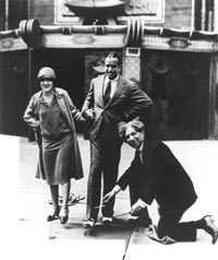 Sid Grauman with Mary Pickford and Douglas Fairbanks
